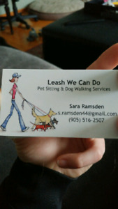 Leash We Can Do- Dog Walking & Pet Sitting Services