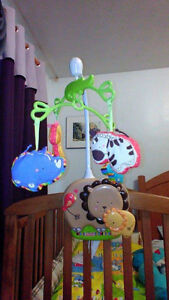 Baby's crib mobile toy