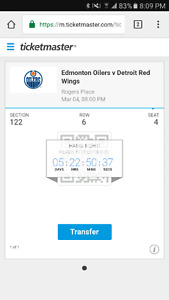 Oilers tickets vs red wings!