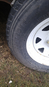 4 trailer tires with rims