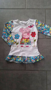 Chandail Peppa Pig pour fillette NEUF 18-24 mois