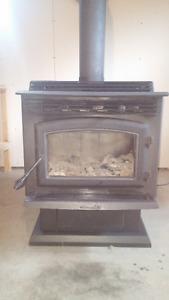 Poêle a bois combustion lente avec ventilateur