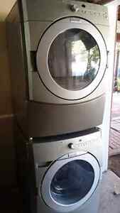 Kitchen aid front load stackable washer and dryer  3 yrs old