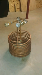 """50ft 1/2"""" Copper Immersion Chiller for Homebrewers"""
