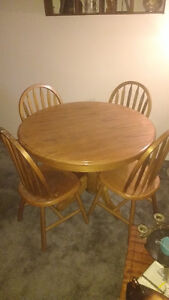 Kitchen/Dining Set-Table & 4 chairs