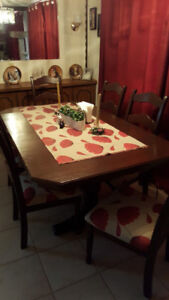 Beautiful solid wood dining room table.