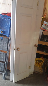 Interior doors: 28 inch and 18inch closet