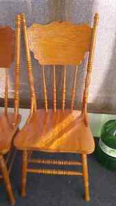 Oak Dining Chairs  Stratford Kitchener Area image 1