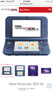 Nintendo 3DS XL and 2 games