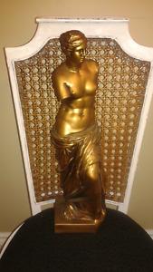 Vintage 1960s Woman Statue