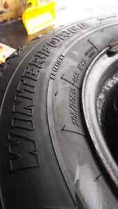 205/70 WINTERFORCE 5 Bolt Winter Tires in Excellent Condition