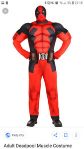 Deadpool muscle costume worn once in perfect condition