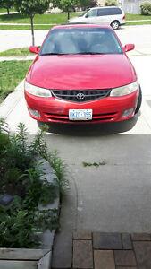 1999 Toyota Solara Red Coupe (2 door)
