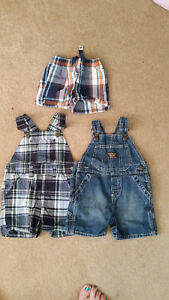 2 Short Overalls 1 Pair of Shorts 9mths