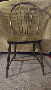 3 antique bow back chairs