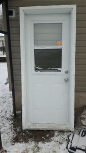 32 x 80  exterior door with frame
