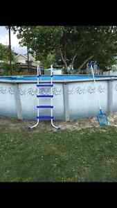 24 ft circle pool with all accessories