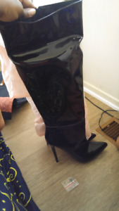 Knee high patent boots size 12