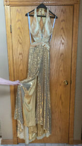 Tony Bowls - Gold Sequined Grad Dress for Sale