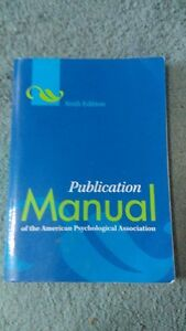 APA Publication Manual Textbook for Sale