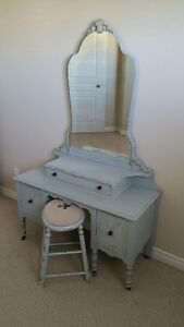 SOLD! Gorgeous French Vintage Vanity and Dresser.. Shabby Chic!