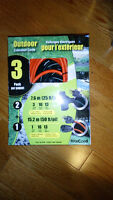 New Outdoor Power Extension Cord, 50' and 25', 16 gauge 13 amp