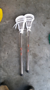 2 mini evo pro Lacrosse sticks used 2 times.