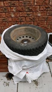 195/60R15 nordic winter tires on rims, one season used