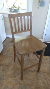 4 brand new wooden bar chairs