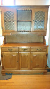 Solid Maple Kitchen Hutch