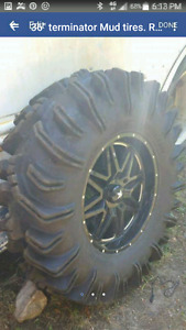 "Mint  36"" Terminator Mud tires"