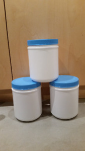 Food Hot/Cold Grade Plastic Containers & Lids 20oz Type 2 -0.50