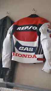 Brand New -REPSOL LEATHER RACE JACKET XS (NOW $100)
