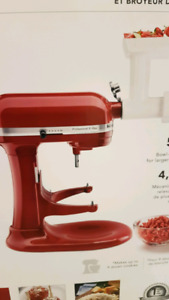 Kitchenaid Professional Mixer with Food Grinder Attachment