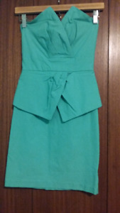 Seafoam green (mint) peplum dress