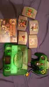 Jungle Green N64 with expansion pack 6 games best offer takes it
