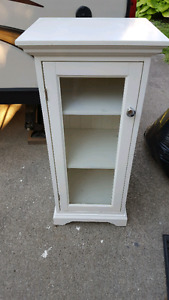 Free white bathroom cabinet