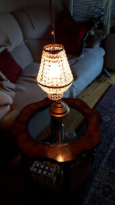 Brushed Gold Colour Crystal Lamp