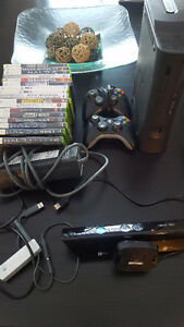 Xbox360 17 Games 2 Controllers and Kinect (HDMI Included)