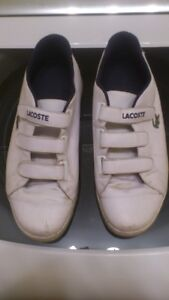 2 pairs of white Lacoste shoes (size 12)