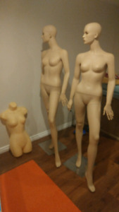 Pair of Female Mannequins + Free hanger form