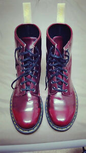Vegan Doc Martens 1460 Cherry Red (US 8 M/US 9 L)