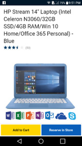 Hp stream laptop blue (basiclly new)