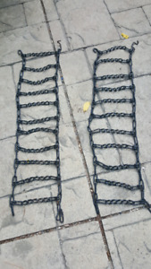 Snow chains for snowblower