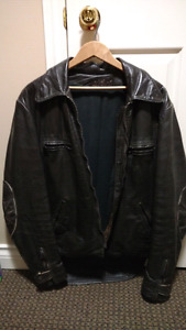 leather motorcycle jacket - medium to large size