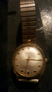Vintage ingraham watch 10k gold band