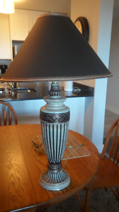 2 heavy base table lamps in excellent condition