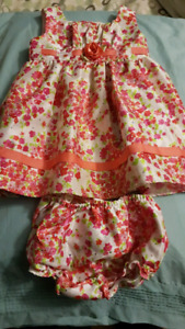 Spring dress and diaper cover 24mth