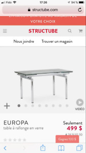 Table structube