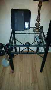 Two matching glass side tables Windsor Region Ontario image 2